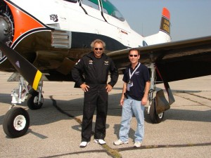 North American Trojan T-28B - Danny Richer and Geoff McKay - Brantford Charity Air Show 2010