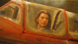 Milla Jovovich stars in Resident Evil Afterlife Movie: YAK-52 Cockpit