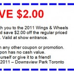 Wings and Wheels Heritage Festival - Discount Coupon - 2011
